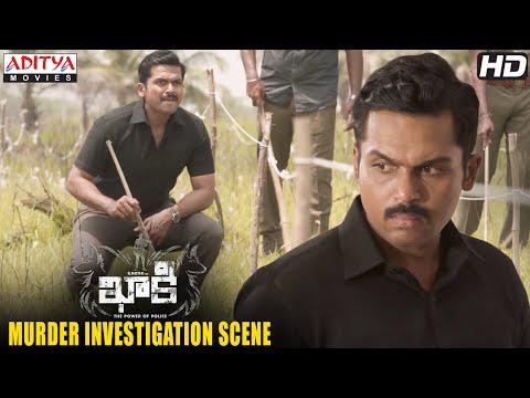 Khakee Movie Scenes | Karthi Murder Investigation Scene | Kharthi, Rakul | H.Vinoth