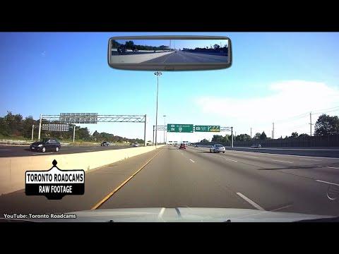 Highway driving in Toronto - WEEKEND - Weekday Vs Weekend - Downtown to Mississauga