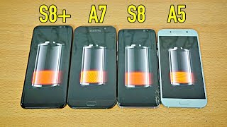 Samsung Galaxy S8 Plus vs A7 2017 vs S8 vs A5 2017 - Battery Drain Test!