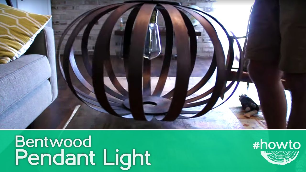 How to Make a Bentwood Pendant Light - YouTube