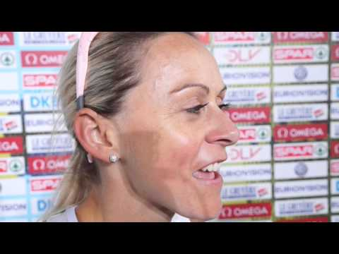 Jenny Meadows (GBR) after the 800m