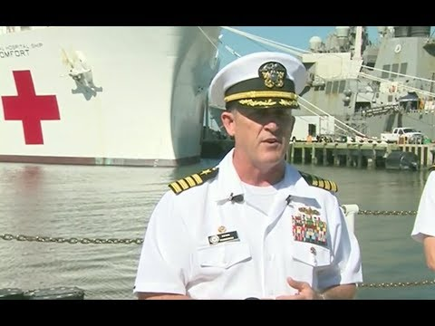 Navy Hospital Ship Sails To Puerto Rico- Full News Conference