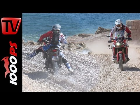 Honda Africa Twin 2016 - Irres Strand Rennen - Tiefer Schotter | Krka Enduro Raid