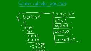Como calcular la raíz cuadrada sin calculadora