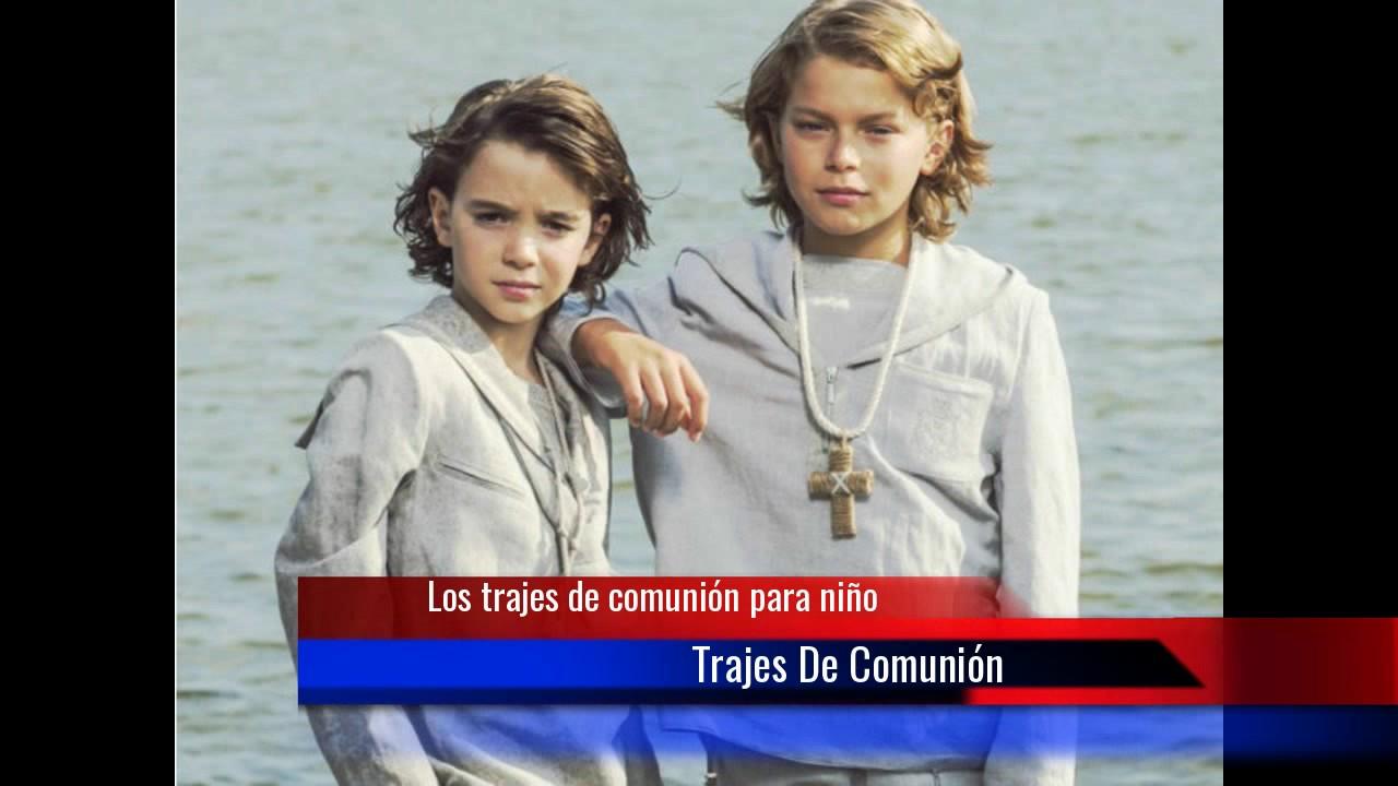 30a0adc80 Los trajes de comunión para niño - YouTube