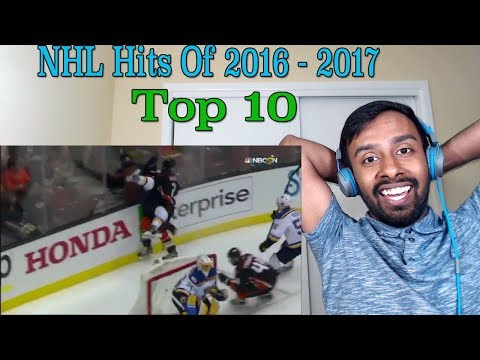 Top 10 NHL Hits of 2016-17(REACTION)