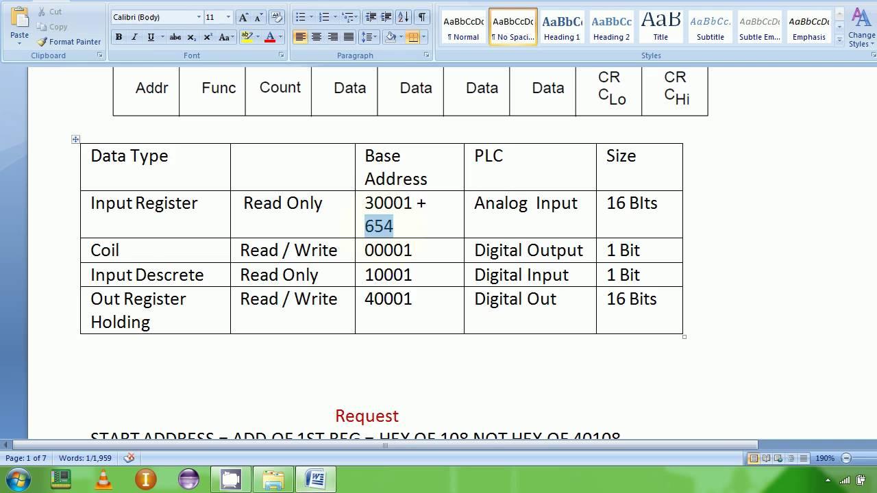 6 Modbus RTU Protocol Read Holding Reg