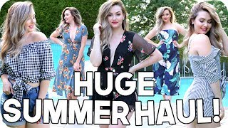 HUGE Summer Try On Haul! Summer Outfit Ideas 2017!!