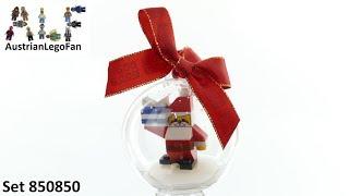 Lego Seasonal 850850 Santa Holiday Bauble - Lego Speed Build Review