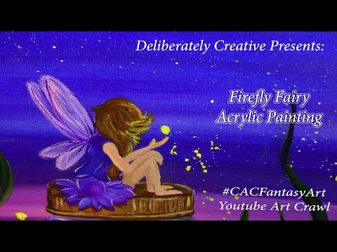 Firefly Fairy #CACFantasyArt Acrylic  Painting Speed Tutorial