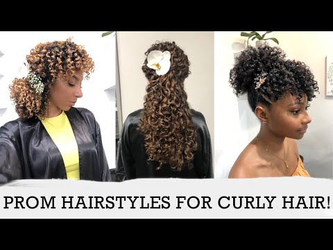 Cute Prom Hairstyles For Curly Hair 3 Curl Types 3 Lengths