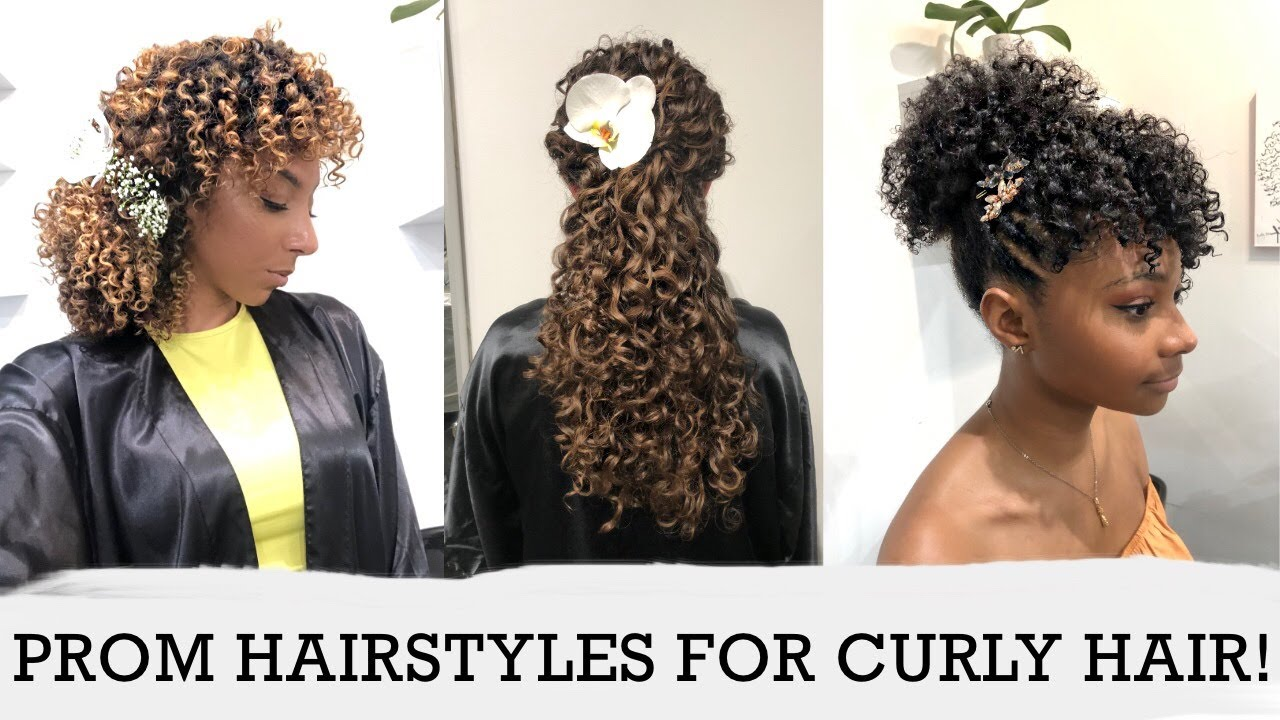 Cute Prom Hairstyles For Curly Hair 3 Curl Types 3 Lengths 6 Styles BiancaReneeToday YouTube