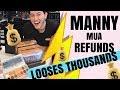 MANNY MUA REFUNDS MONEY TO CUSTOMERS