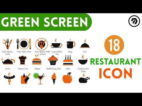 18 Green Screen restaurant Icon | mrstheboss