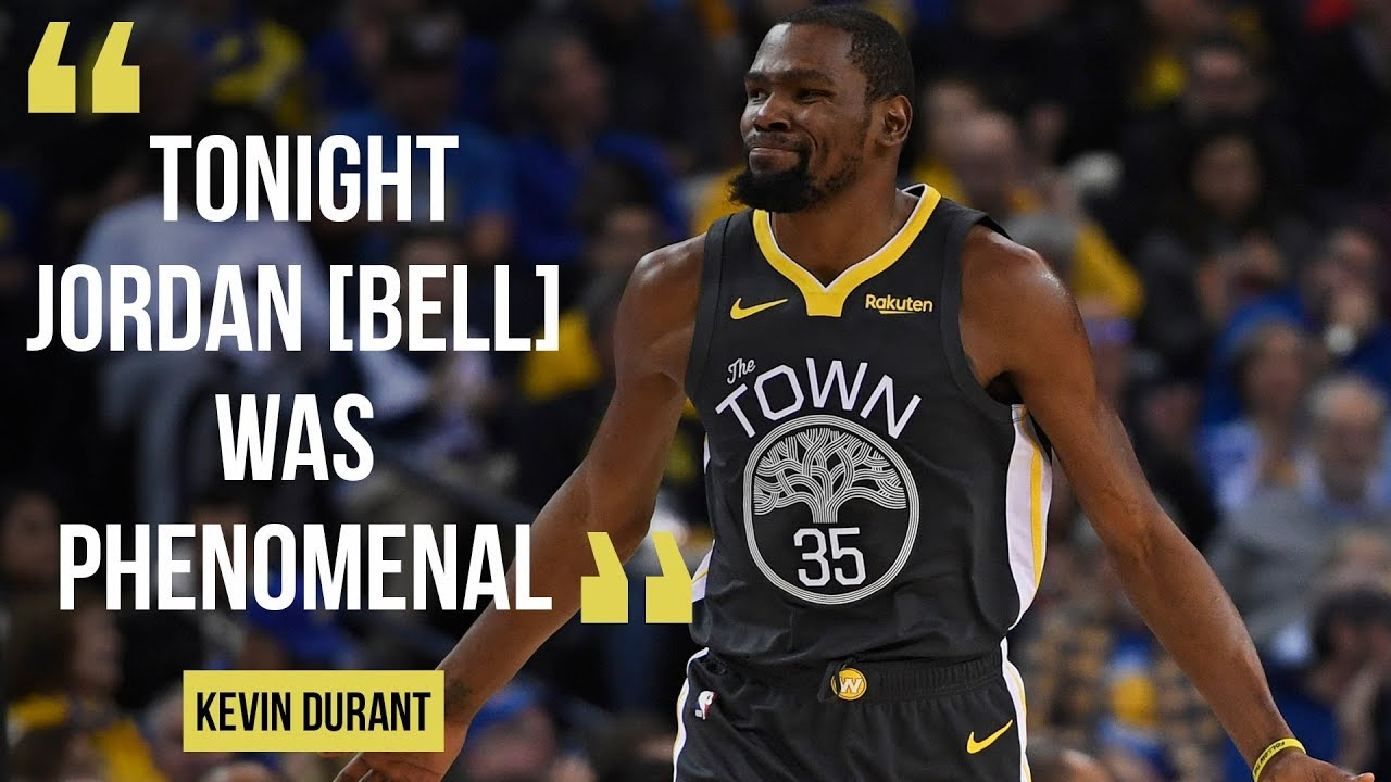 "a12a3198f64b Kevin Durant on 125-97 win against Portland Trailblazers  Jordan Bell ""was  phenomenal."""