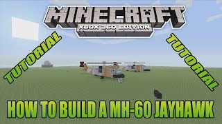 minecraft xbox edition tutorial how to build a mh 60 jayhawk update version