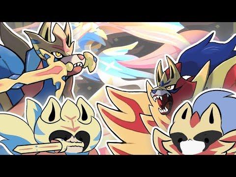 Zacian And Zamazenta Memes Fan Art Compilation Pokemon Sword