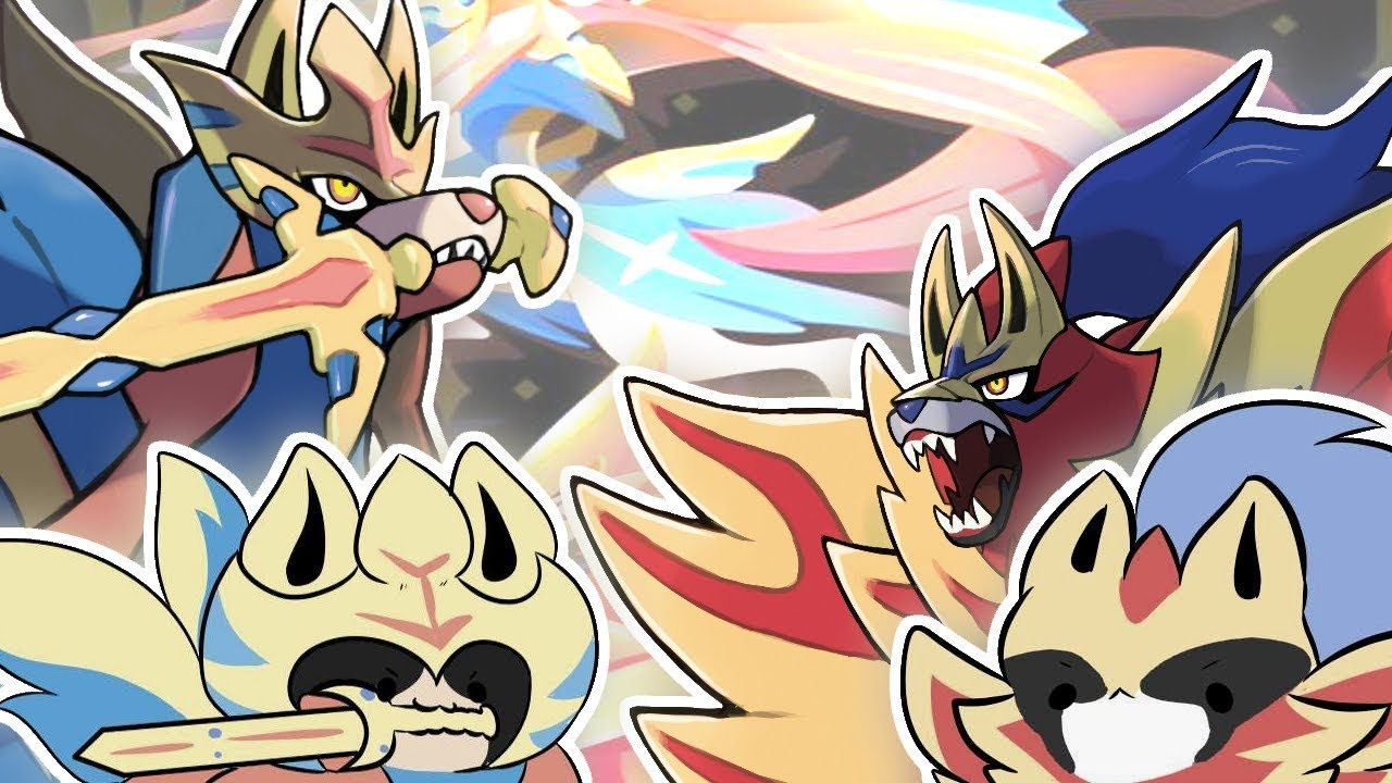 Zacian And Zamazenta Memes Fan Art Compilation Pokemon Sword Shield Direct Trailer New Legendary Youtube