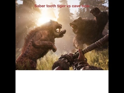 FAR CRY PRIMAL  saber tooth tiger vs cave bear