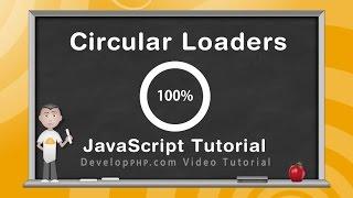 Circular Progress Loader Canvas JavaScript Programming Tutorial