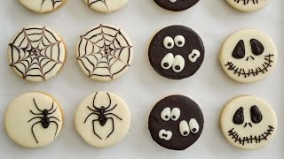 ALFAJORES DECORADOS CON CHOCOLATE ♦︎ especial de halloween || TAN DULCE
