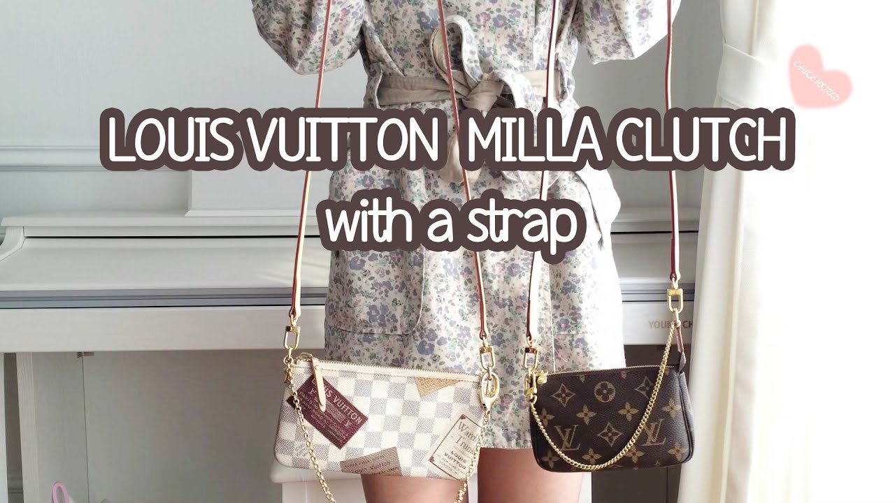 b7b7fff8b718 LOUIS VUITTON Milla Clutch with a leather strap