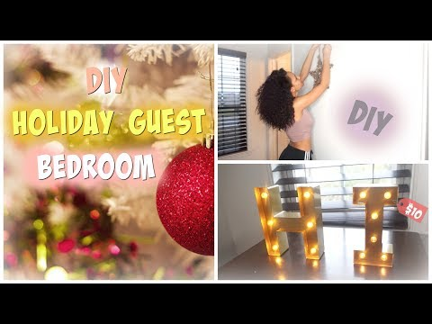 DIY: Turn Your Guest Bedroom into a Holiday Suite | Using Old Decorations