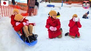 หนูยิ้มหนูแย้ม   เล่นสไลเดอร์หิมะ เที่ยวญี่ปุ่น EP2