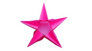 Paper stara origami Новогодняя оригами звезда на ёлку из бумаги