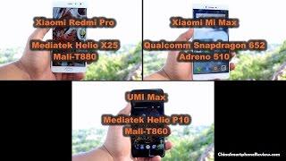 Mediatek Helio p10 vs.  Helio x25 vs. Snapdragon 652