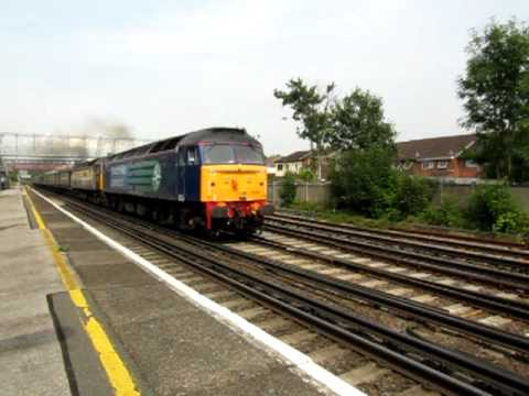 47818 + 47790 pass St Denys on the Cruise Saver Express 02/08/2011
