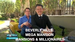 "Michael Corbett & Christophe Choo ""Extra"" tour of a Beverly Hills mega mansion  real estate  realtor"