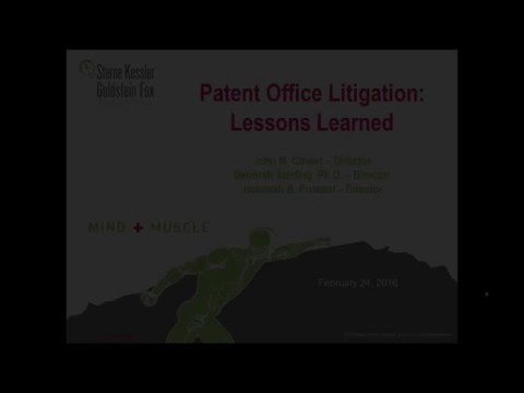 Patent Office Litigation: Lessons Learned