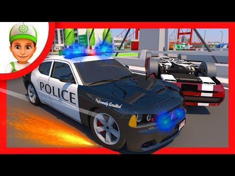 Мультфильм полиция догоняет преступников
