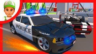 Мультики про Машинки. Полицейские делают облаву на преступника. Новый мультфильм 2017