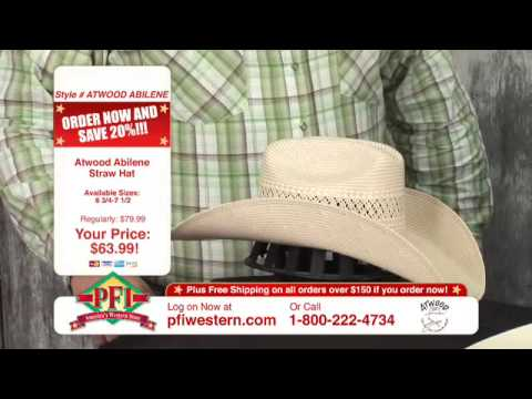 28393f99ea7 Atwood Cowboy Hats. PFI Western Store ...