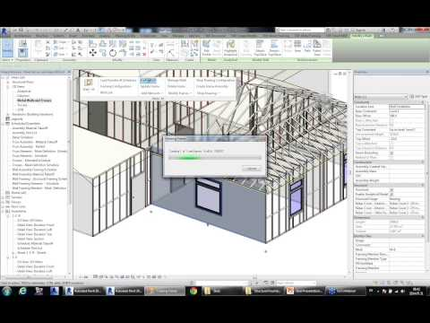 Modelling and Documenting Steel Framing Structures with Revi