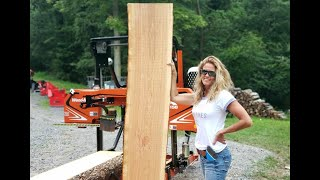517-beautiful-live-edge-cherry-slabs-coming-off-the-woodmizer-lx-150
