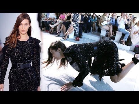 Bella Hadid Cae En Plena Pasarela de Michael Kors ¡OUCH!