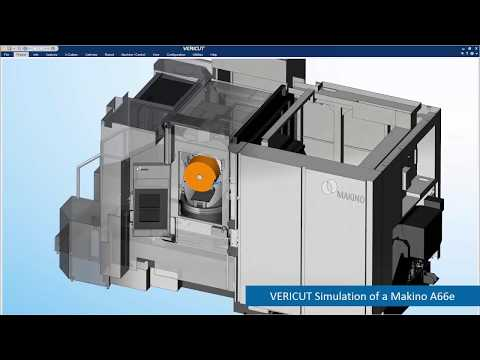 Makino Machine Tool CNC Simulation with VERICUT