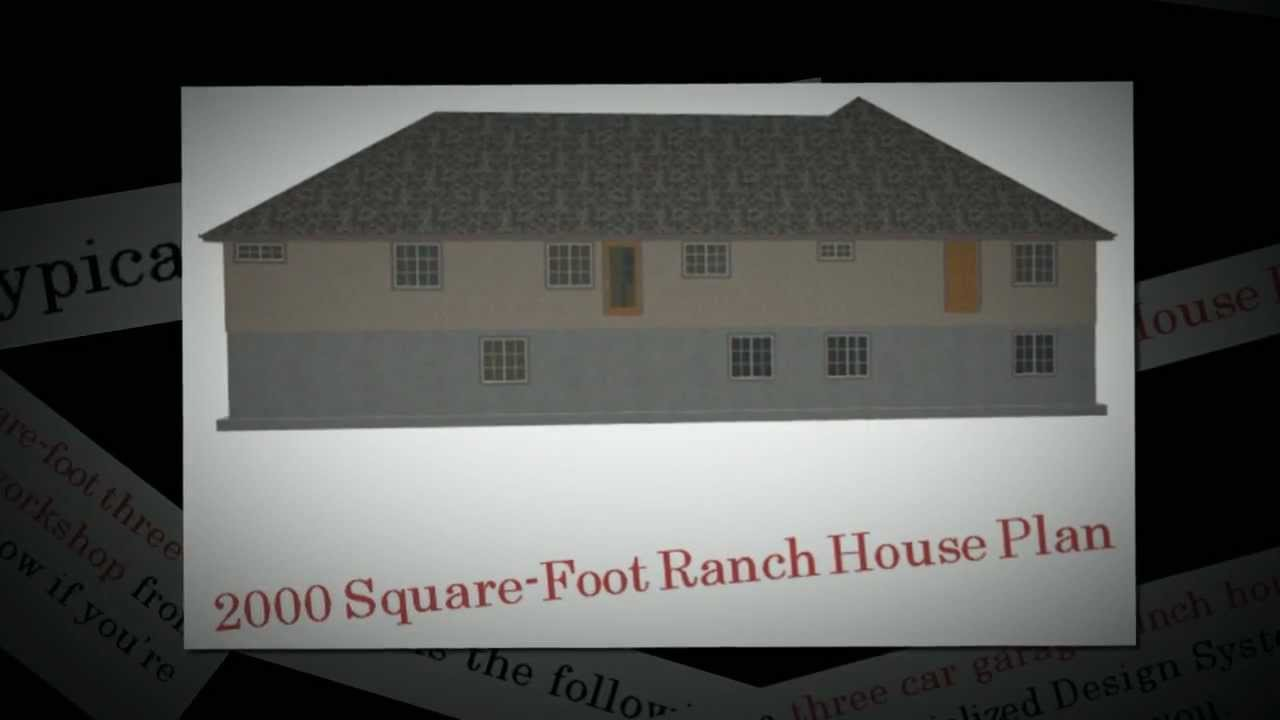 2000 SquareFoot Ranch House Plan Ranch House YouTube