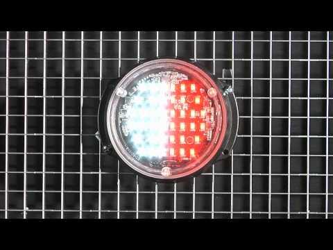 911 PAR 36 5MM Split Color Surface Mount And Fog Hole LED Emergency Vehicle Light 911 Signal USA