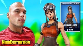HighDistortion Fights A RARE Renegade Raider Skin Until THIS HAPPENS | Fortnite Daily Funny Moments