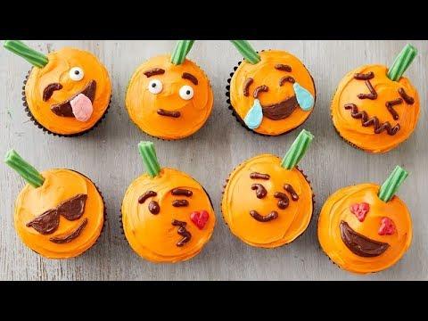 Pumpkin Emoji Cupcakes | Betty Crocker Recipe