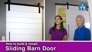 How to Build & Install a Barn Door