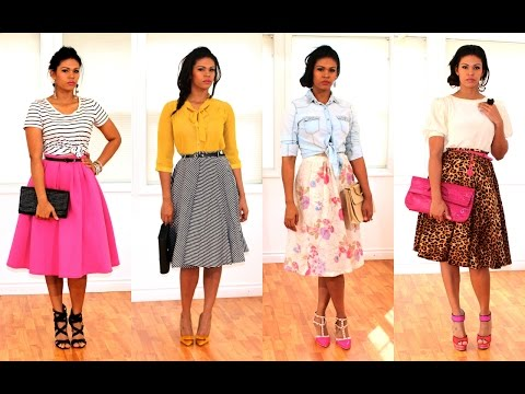 MIDI SKIRTS LOOKBOOK PRIMAVERA 2015