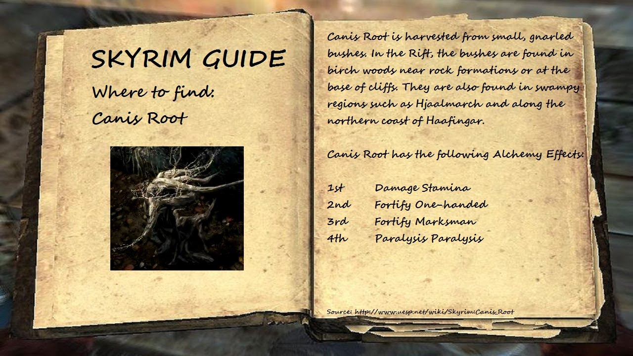 Skyrim Guide - Where to find: Canis Root - Part 1 (1080p HD)
