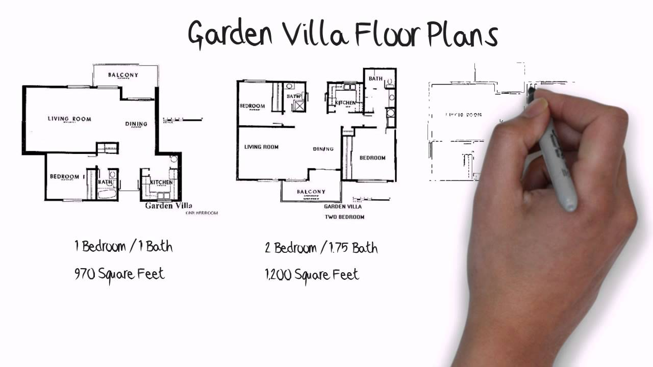 Garden villa model in laguna woods floor plan youtube for Laying out a garden plan