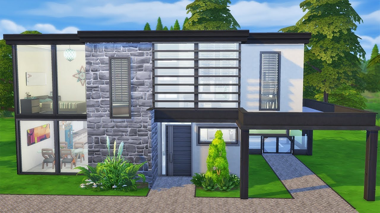 The Bachelor Pad Speed Build The Sims 4 No Cc Youtube