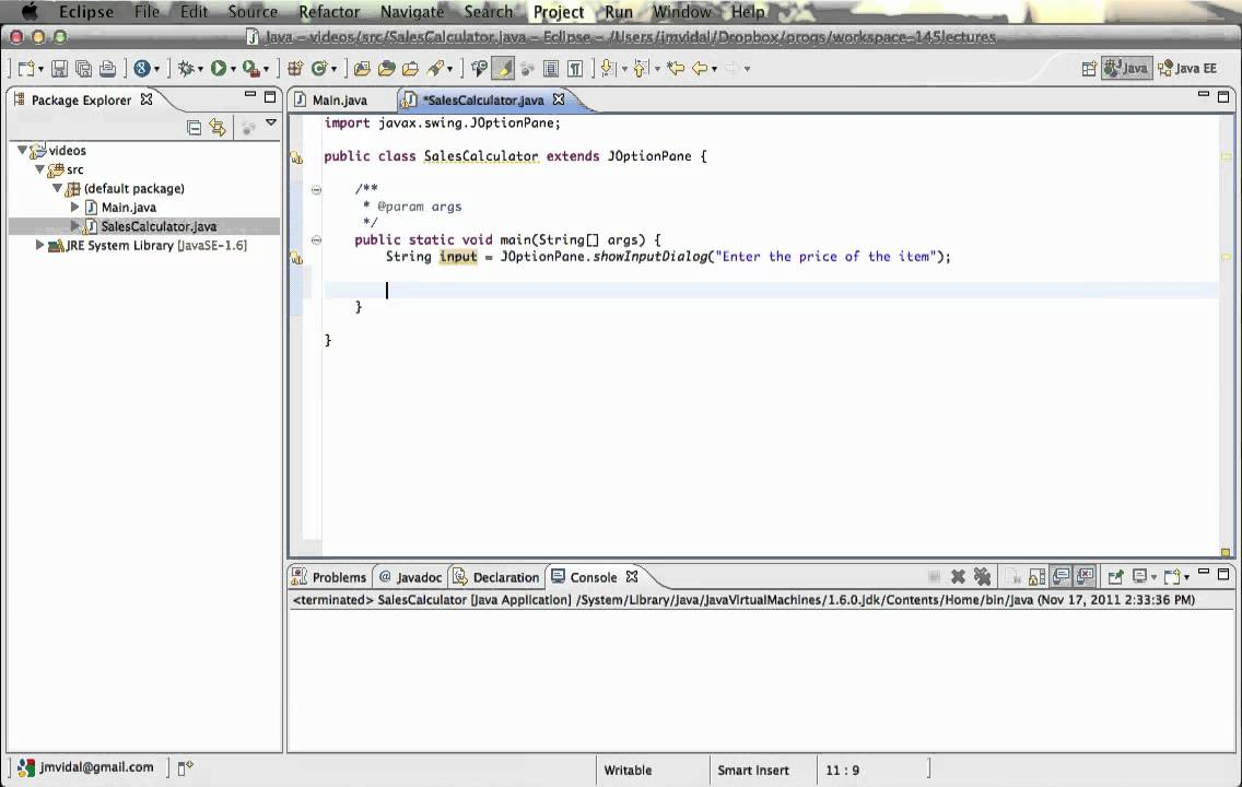 Java swing 001 (joptionpane) showmessagedialog e showinputdialog.